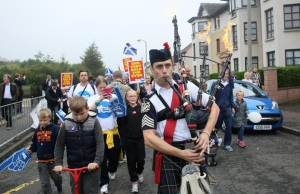 "A procession of ""Yes"" voters in Edinburgh, Scotland. from The Boston Globe"