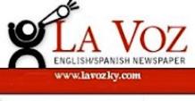 El logo de La Voz como se encuentra en su página de Facebook, www.facebook.com/lavoz.newspaper